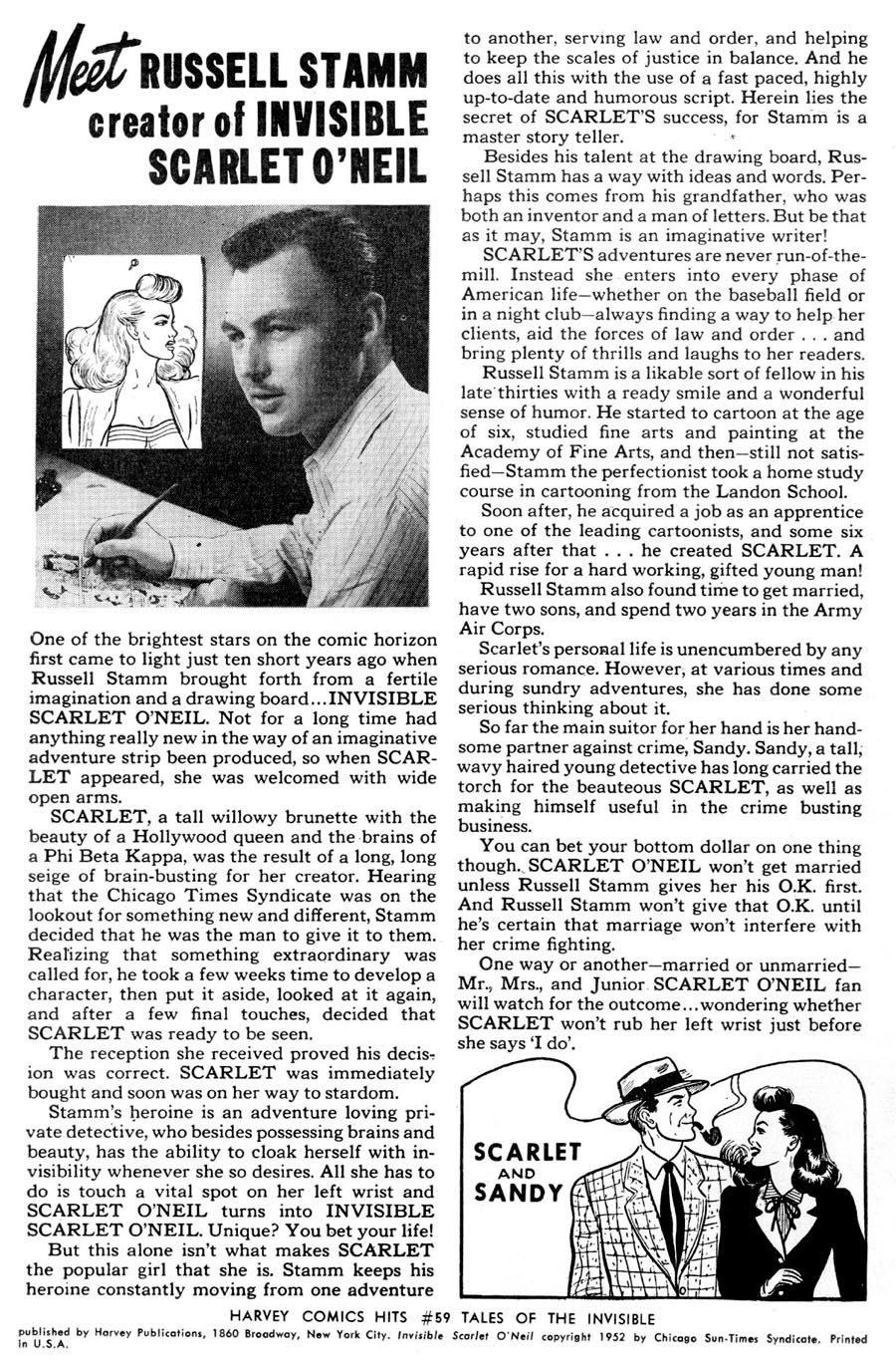 Harvey Comic Hits #59 - Meet Russell Stamm (1952)