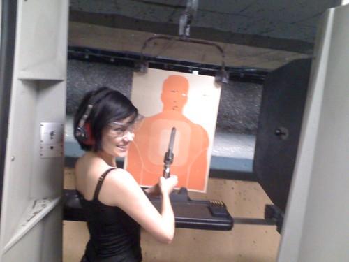 Small girl, big gun