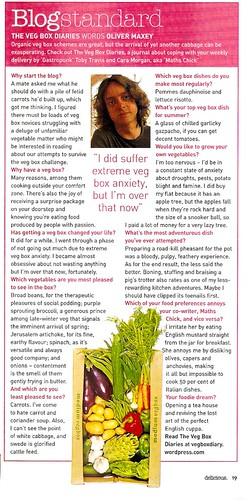 Delicious Magazine article