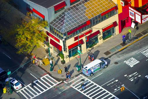 "isometric ""illustration"" of a New York City corner by Garrett LeSage."