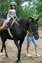 Olivia on Blackie