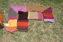 garter stitch blanket is growing