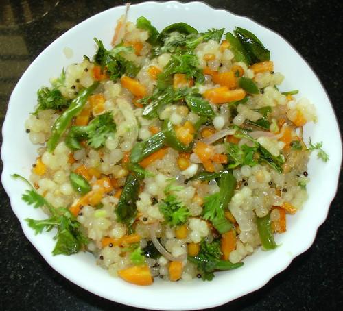 javvarisi (sabudhana)  vegetable uppumaa
