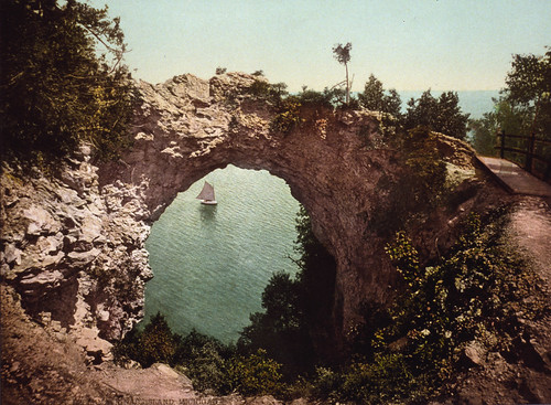 Arch Rock, Mackinac Island Michigan, c. 1899