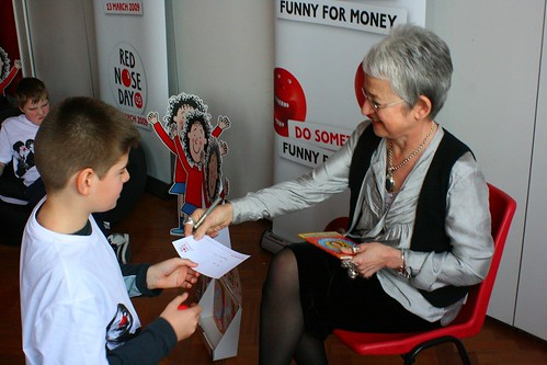 Jacqueline Wilson and Tracy Beaker for Comic Relief