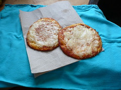 Gryfes frozen pizzas - cooked