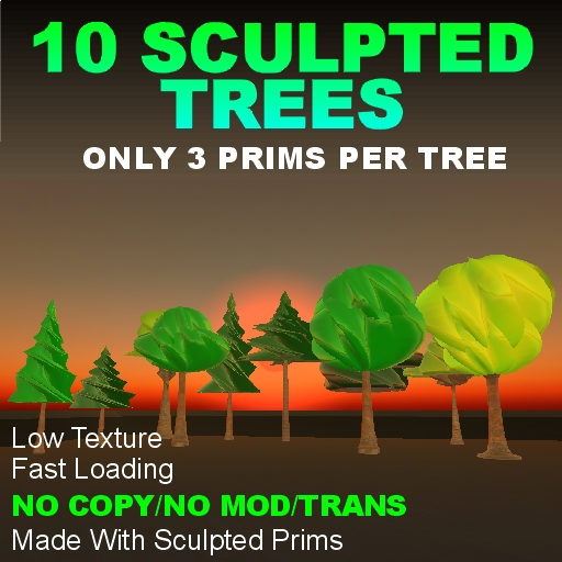 10 Sculpted Trees NoCopy