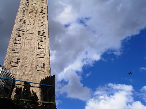 Cleopatra's Needle and Plane