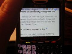The Blackberry isn't very stylish...