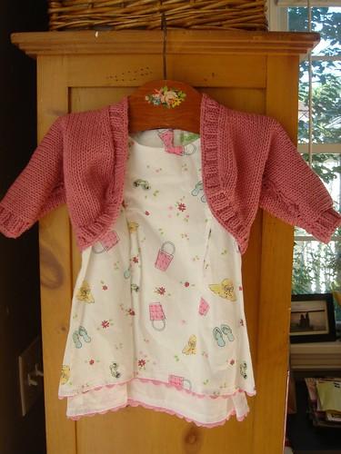 knitted baby shrug