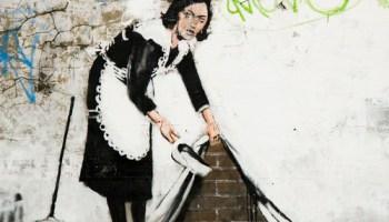 Bansky street cleaner - Chalk Farm (by DanBrady)