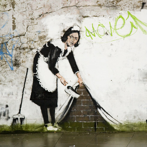 Bansky street cleaner - Chalk Farm (by DanBrady)