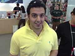 Abdul Tarbzouni, right before Apple employee asked us to stop taking photos of each other