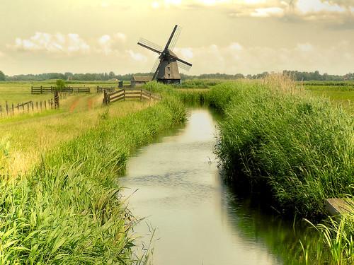Dutch 17th century polder windmill