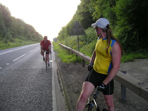 John cycles up