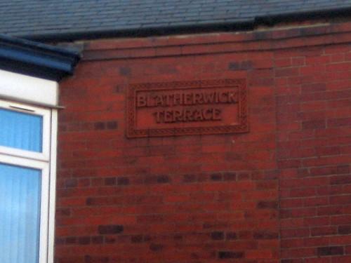Blatherwick Terrace Sign, Lord Street, Redcar