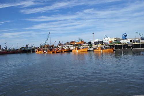een stukje haven van Mar del Plata