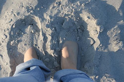 obligatory feet in sand shot