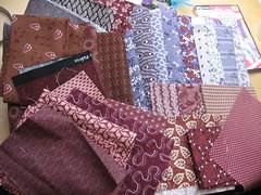 Fabrics for our Dear Jane Swap