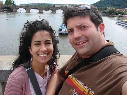 Sobre el río Moldava