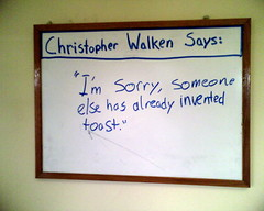 "christopher walken: ""toast"""