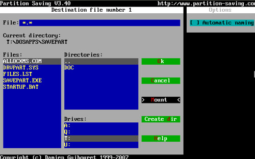 7. Partition Saving - Mount and Backup
