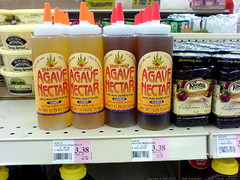 agave nectar on the shelf at winco - DSC00295