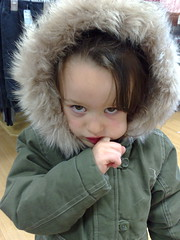I really don't want to be trying on winter coats actually, mummy.