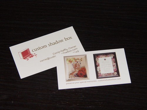 Custom Shadow Box business cards