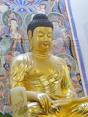 Main Dharma room buddha