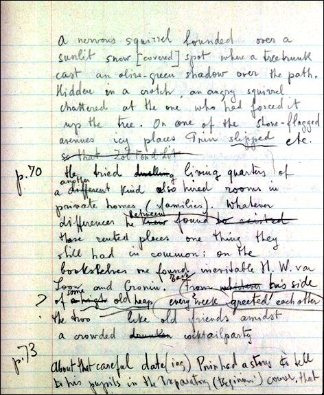 Pnin - manoscritto