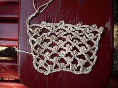 Irish Lace Headband in progress