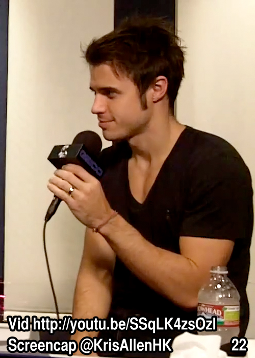 Kris Allen Billy Bush Show interview screen cap chest arms biceps sexy tee t-shirt pictures 22