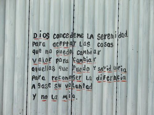 serenity prayer in spanish