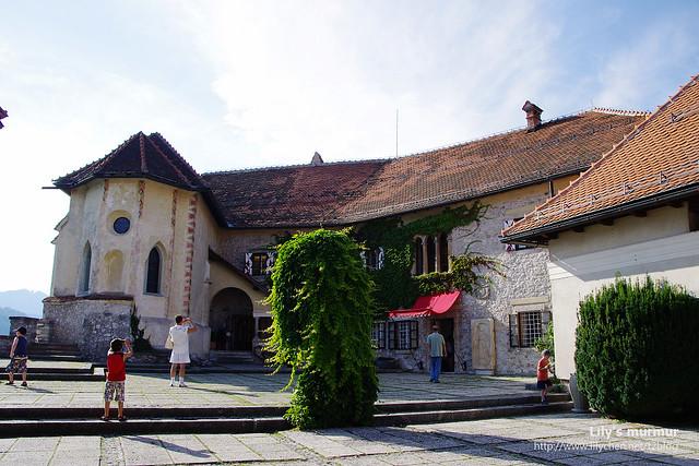 城堡主建築,中間那叢是長得相當自由奔放的樹。