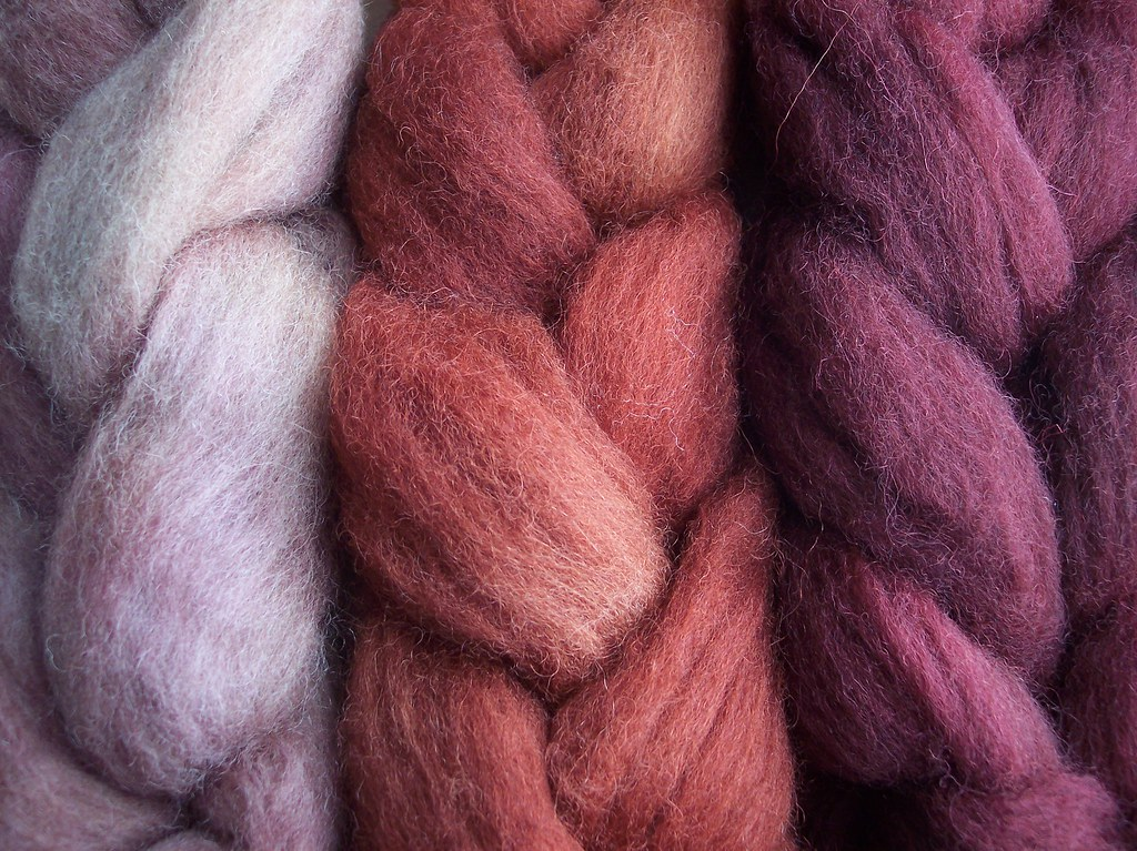 handdyed red