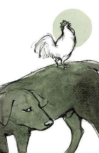 Dun Cow illustration.