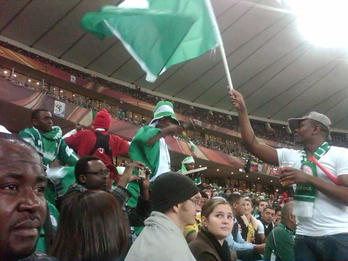 Nigerian bell ringer and prayers to win against Korea