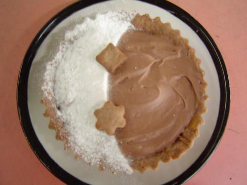 Milk chocolate caramel tart