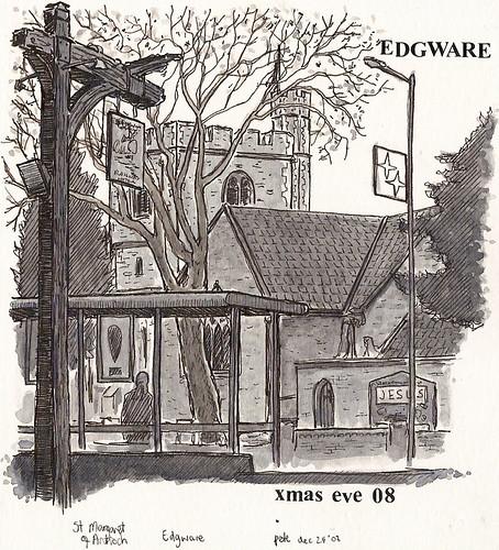 st margarets church, edgware