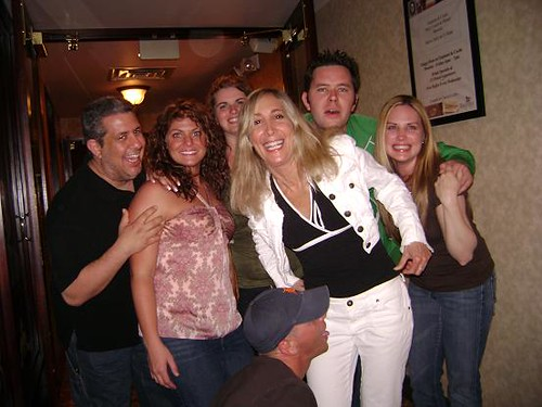 Huggy, Mrs. Huggy, Jess, Ruthie, Me, Lenny, and Jeff the Bottomfeeder trying to steal some poontang.