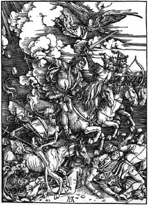 Durer woodcut The Four Horsemen of the Apocalypse