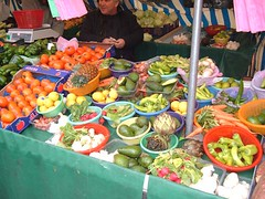 Fruits and vegetables in a Paris market
