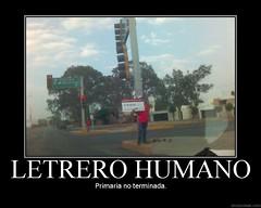 Letrero Humano