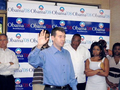 David Plouffe in South Carolina during the primaries
