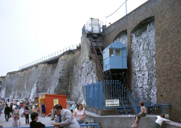 Margate Lido Cliff Railway in the 70s
