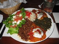 Veggie Combo Platter at Cafe Sophia