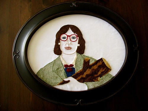 Self Portrait as The Log Lady