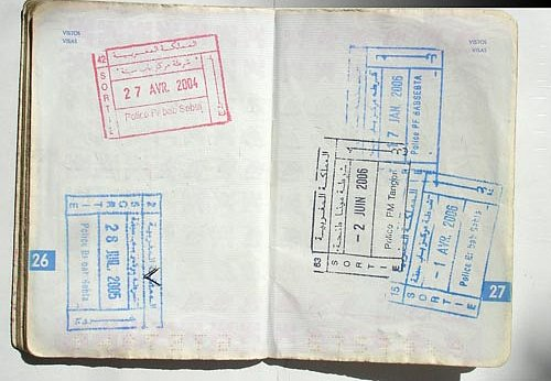 Visa para Marruecos, Documentos para entrar en Marruecos