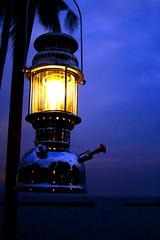 Hurricane Lamp Reflections
